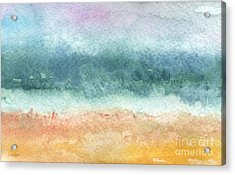 Sand And Sea Acrylic Print