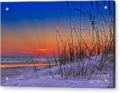 Sand And Sea Acrylic Print by Marvin Spates