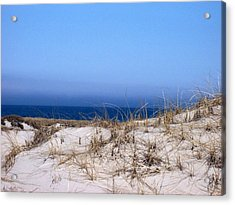 Sand And Sky Acrylic Print by Catherine Gagne