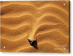 Sand And Stone Acrylic Print by Robert Preston