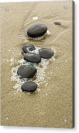 Acrylic Print featuring the photograph Sand And Stones by Judi Baker