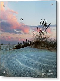 Sand And Sunset Acrylic Print