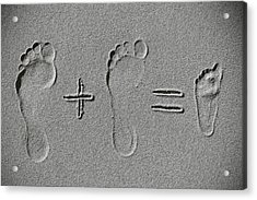 Sand Arithmetic Acrylic Print by