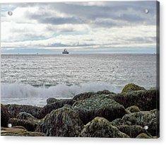 Acrylic Print featuring the photograph Sand Beach Acadia by Gene Cyr