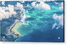 Sand Beach Meets Ocean Acrylic Print by David D