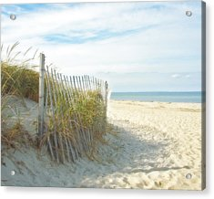 Sand Beach Ocean And Dunes Acrylic Print