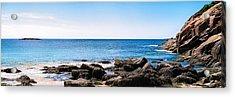 Sand Beach Rocky Shore   Acrylic Print by Lars Lentz