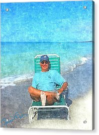 Sand Between Your Toes Acrylic Print