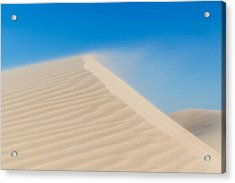 Sand Blowing Off A Dune Acrylic Print