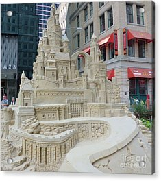 Sand Castle Acrylic Print by James Dolan