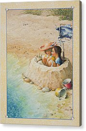 Sand Castle Acrylic Print by Lynn Bywaters