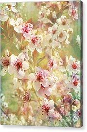 Sand Cherry Flourish Acrylic Print