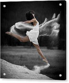 Sand Dance Acrylic Print by Marie-Dominique Verdier