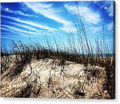 Sand Dune At Alantic Beach Acrylic Print by Joan Meyland