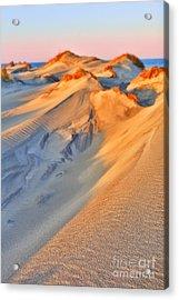 Sand Dune Sunset - Outer Banks Acrylic Print by Dan Carmichael