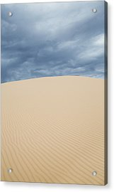 Sand Dunes And Dark Clouds Acrylic Print