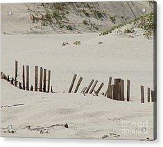 Sand Dunes At Gulf Shores Acrylic Print