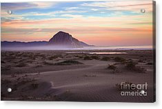 Sand Dunes At Sunset At Morro Bay Beach Shoreline  Acrylic Print by Jerry Cowart