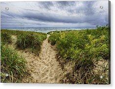 Sand Dunes Beach Path Acrylic Print by Sebastian Musial