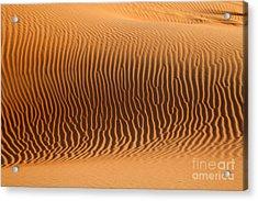 Sand Dunes In Dubai Acrylic Print by Fototrav Print