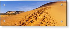 Sand Dunes In The Desert, Coral Pink Acrylic Print by Panoramic Images