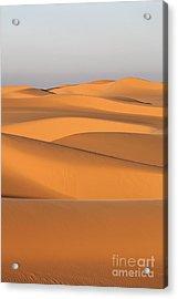 Sand Dunes In The Sahara Desert Acrylic Print by Robert Preston