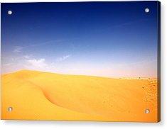 Sand Dunes Acrylic Print by Manu G