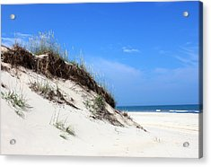 Sand Dunes Of Corolla Outer Banks Obx Acrylic Print by Design Turnpike