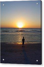Acrylic Print featuring the photograph Sand Key Sunset by David Nicholls