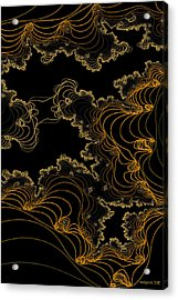 Acrylic Print featuring the digital art Sand Seafoam And Sky by Owlspook