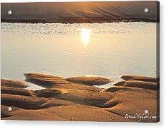 Sand Shine Acrylic Print by Robert Banach