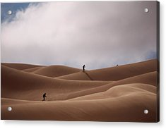 Sand Skiing Acrylic Print