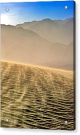 Sand Storm In The Mesquite Dunes Acrylic Print