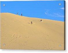 Sand Surfing In The Dunes Near Huacachina, Peru Acrylic Print by Markus Daniel