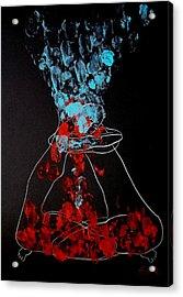 Sand Timer Of Love Acrylic Print