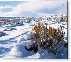 Sand Wash Basin In The Winter Acrylic Print