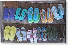 Acrylic Print featuring the photograph Sandals by Russell Smidt