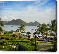 Acrylic Print featuring the photograph Sandals St. Lucia by Joe Winkler