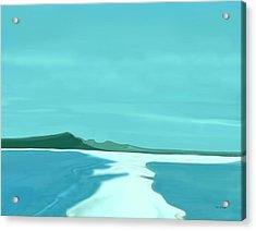 Sandbar Acrylic Print by Tim Stringer