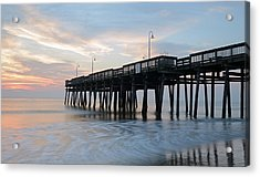 Sandbridge Pier Acrylic Print