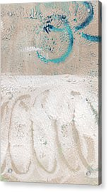 Sandcastles- Abstract Painting Acrylic Print by Linda Woods