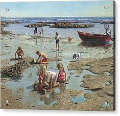 Sandcastles Acrylic Print by Richard Harpum