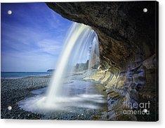 Sandcut Beach Acrylic Print