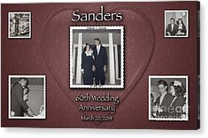 Sanders 60th Anniv Acrylic Print by D Wallace