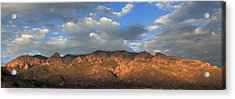 Sandia Crest At Sunset Acrylic Print by Alan Vance Ley