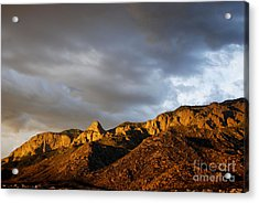 Acrylic Print featuring the photograph Sandia Mountains by Gina Savage