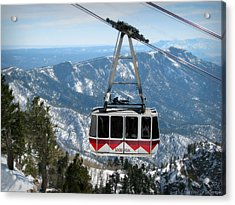 Sandia Peak Tramway Winter Acrylic Print