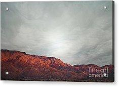 Sandia Watermelon Mountain Acrylic Print by Andrea Hazel Ihlefeld