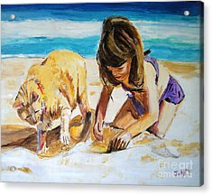 Sandi's Helper Acrylic Print by Judy Kay