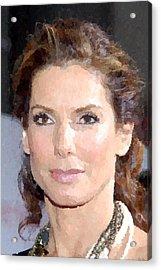 Sandra Bullock Portrait Acrylic Print